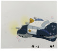 "Animation Art:Animation Art, ""Fish Police"" - Police Cruiser Animation Production Cel andClean-Up Drawing Original Art, Group of 3 (Hanna-BarberaProductio... (Total: 3)"