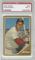 Baseball Cards:Singles (1960-1969), 1962 Topps Stan Musial #50 PSA NM 7. Stan the Man sports a bigsmile as he poses for his entry in the 1962 Topps baseball i...