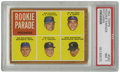Baseball Cards:Singles (1960-1969), 1962 Topps Rookie Parade #592 Pitchers (Jim Bouton) PSA NM 7. Thewood-bordered 1962 Topps baseball issue featured several ...