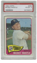 Baseball Cards:Singles (1960-1969), 1965 Topps Mickey Mantle #350 PSA VG-EX 4. The Mick shows off hisswing for the Topps photographer. Light wear at the corn...
