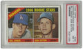 Baseball Cards:Singles (1960-1969), 1966 Topps Dodgers Rookie Stars Bill Singer, Don Sutton #288 PSA NM7. A Hall of Fame rookie card from the master of the mo...