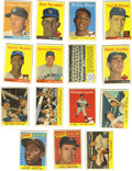 Baseball Cards:Lots, 1958 Topps Baseball Group Lot of 323. Well over 300 cards from the1958 Topps baseball set represented. Highlights include ...