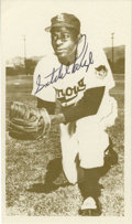 Autographs:Sports Cards, 1975 Satchel Paige Signed TCMA Card. A perfect 10/10 black inksignature from the ageless Hall of Fame pitcher. Card is NR...