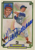 Autographs:Sports Cards, Ted Williams Signed Card. Card number 14 from the Donruss GrandChampion set offers a 9+/10 blue sharpie autograph from the...