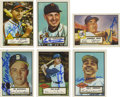 Autographs:Sports Cards, Hall of Famers Signed 1952 Topps Reprint Cards Lot of 11. The cards may be reproductions, but the 10/10 blue sharpie signat...