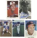Autographs:Sports Cards, Hall of Famers Signed Images Lot of 19. Fine assortment of vintageand modern exhibit cards, postcards, photos and trading ...