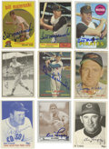 Autographs:Sports Cards, Hall of Famers Signed Trading Cards Lot of 17. Appealing assortmentof cardboard features both modern reprints and vintage ...