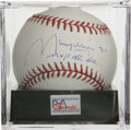 """Autographs:Baseballs, Maury Wills Single Signed Baseball, PSA Mint 9. The superstar basethief adds """"MVP NL '62"""" and his jersey number """"30"""" to hi..."""