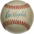 Autographs:Baseballs, Don Drysdale Single Signed Baseball. A member of one of the mostfeared pitching duos of all time. This career Dodger has ...