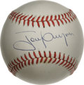 Autographs:Baseballs, Tony Gwynn Single Signed Baseball. The newest Hall of Fame inducteeapplied his 10/10 blue ink signature to the sweet spot ...