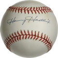 Autographs:Baseballs, Harvey Haddix Single Signed Baseball. The southpaw star pitcherapplied his 10/10 blue ink signature to the sweet spot of t...