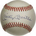 Autographs:Baseballs, Mickey Mantle Single Signed Baseball. One of the most lovedathletes of all time, Mickey Mantle is a must own signature fo...