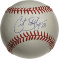 Autographs:Baseballs, Curt Schilling Single Signed Baseball. The hero of the 2001 and2004 World Series presents a 10/10 blue ink signature on th...