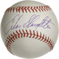 "Autographs:Baseballs, Enos Slaughter Single Signed Baseball. ""Country"" Enos Slaughter hasapplied a pristine sweet spot sig to the ONL (Coleman) ..."