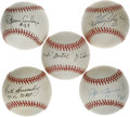 Autographs:Baseballs, 1974-82 St. Louis Cardinals Players Single Signed Baseballs Lot of14. Single signed balls are all on either ONL or OML sph...