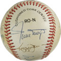 Autographs:Baseballs, 500 Home Run Club Baseball Signed by 12. When speaking of theme mementos, few approach the desirability of collecting the s...