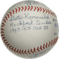 "Autographs:Baseballs, A.A.G.P.B.L. Women's League Multi-Signed Baseball. The film ""A League of Their Own"" brought this charming chapter in Americ..."