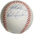 Autographs:Baseballs, Baltimore Orioles 20-Game Winners Multi-Signed Baseball. Each ofthe four hurlers who have checked in on the offered OAL (B...