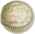 Autographs:Baseballs, 1930 Allentown Dukes Team Signed Baseball. This tremendous examplecomes from the 1930 Allentown Dukes, a minor league team...