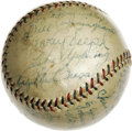 Autographs:Baseballs, 1932 Chicago White Sox Team Signed Baseball. Tremendous offeringhere collects 23 signatures from the 1932 Chicago White So...