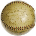 Autographs:Baseballs, 1934 Chicago White Sox Team Signed Baseball. Tremendous team signed orb collects 23 signatures from the 1934 Chicago White ...