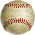 Autographs:Baseballs, 1944 Hollywood Stars Team Signed Baseball. The PCL team theHollywood Stars, played under that name from 1938-57, eventuall...