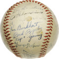 Autographs:Baseballs, 1945 St. Louis Cardinals Team Signed Baseball. An excellent teamwedged between two World Series Champions, the 1945 St. Lo...