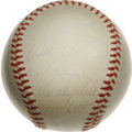 Autographs:Baseballs, 1959 Los Angeles Dodgers Team Signed Baseball. ONL (Giles) balldocuments this World Championship club. It should be evide...