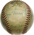 Autographs:Baseballs, 1964 New York Yankees Team Signed Baseball. Seventeen members ofthe 1964 AL Champion New York Yankees appear on the baseba...