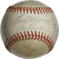 Autographs:Baseballs, 1971 Baltimore Orioles Team Signed Baseball. HOF manager EarlWeaver enjoyed much success when he took the reigns of the Ba...