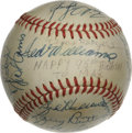 Autographs:Baseballs, 1972 Texas Rangers Team Signed Baseball. The sweet spot of this OAL(Cronin) baseball features a fine Ted Williams signatur...