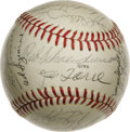 Autographs:Baseballs, 1974 St. Louis Cardinals Team Signed Baseball. The HOFer RedSchoendienst skippered his 1974 St. Louis Cardinals squad to a...