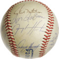Autographs:Baseballs, 1991 Milwaukee Brewers Team Signed Baseball. Hall of Famer PaulMolitor is joined here by sixteen other members of the 1991 ...