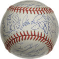 Autographs:Baseballs, 1994 National League All Star Team Signed Baseball. With the gametied in the bottom of the 10th inning, recent Hall of Fam...