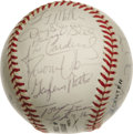 Autographs:Baseballs, 1995 St. Louis Cardinals Team Signed Baseball. The 1995 St. LouisCardinals squad is represented here by 34 high-quality si...