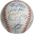 Autographs:Baseballs, 1997 Cleveland Indians Team Signed Baseball. The 1997 ClevelandIndians team was a strong one, winning its third straight d...