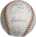 Autographs:Baseballs, 1999 Cleveland Indians Team Signed Baseball. With 97 wins and an ALCentral title, the 1999 Cleveland Indians were among th...