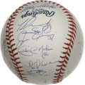 Autographs:Baseballs, 2003 St. Louis Cardinals Team Signed Baseball. Super clean OML orbsports a tremendous 29 signatures courtesy of the 2003 S...