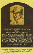 Autographs:Post Cards, Ted Williams Signed Gold Hall of Fame Plaque. The Splendid Splinterhas left his tremendous ink signature on this Hall of F...