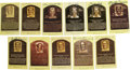 Autographs:Post Cards, Signed Negro Leagues Gold Hall of Fame Plaques Lot of 11. Elevensigned gold Hall of Fame postcards here comes courtesy of...
