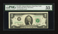 Error Notes:Miscellaneous Errors, Fr. 1935-B $2 1976 Federal Reserve Note. PMG About Uncirculated 55 EPQ.. ...