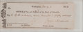 """Autographs:U.S. Presidents, James Madison Signed Check as President, engrossed in his hand. 7""""x 2.5"""", Washington, January 3, 1814. A check made out to ..."""