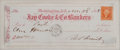 "Autographs:U.S. Presidents, Ulysses S. Grant Check Signed as President-elect engrossed entirely in his hand. A check made out to ""Cash"" for $100.00..."