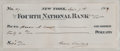 Autographs:U.S. Presidents, Grover Cleveland Signed Check engrossed entirely in his hand. Acheck drawn on the Fourth National Bank of New York for $40...