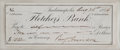 """Autographs:U.S. Presidents, Benjamin Harrison Signed Check engrossed entirely in his hand. 7"""" x2.75"""", August 25, 1884. ..."""