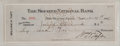 "Autographs:U.S. Presidents, William H. Taft Signed Check. 8.5"" x 3"", November 27, 1917. A for$6.00 made out to Joseph Chadwick drawn on the Second Nati..."