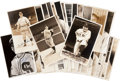 Autographs:Photos, 1930's-40's Signed Photographs by George Burke Lot of 35 withDiMaggio, McCarthy....