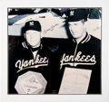 Autographs:Photos, Circa 1990 Mickey Mantle & Don Larsen Signed EnormousPhotograph....