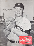 Baseball Collectibles:Others, Early 1960's Mickey Mantle Rawlings Advertising Poster....