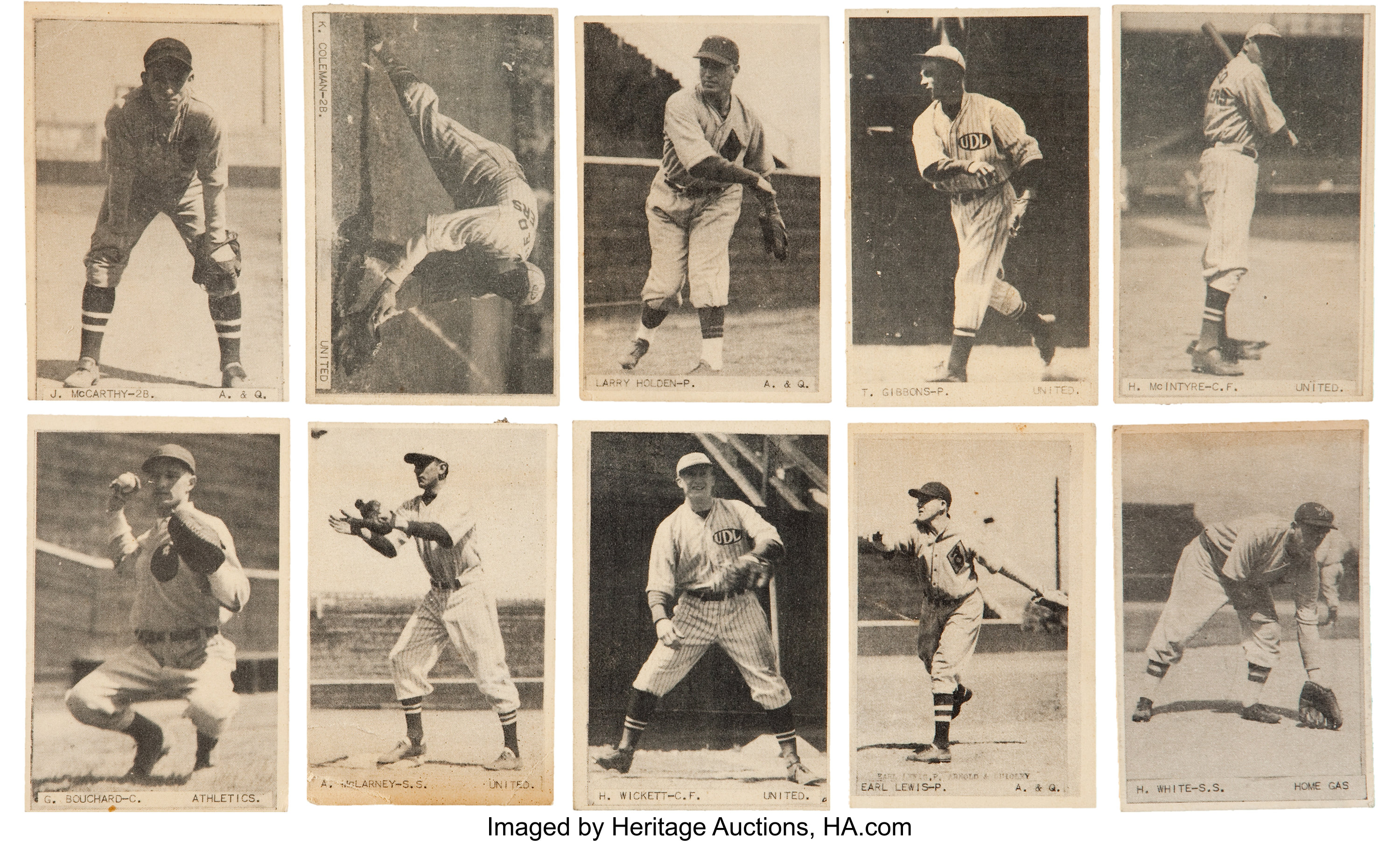 Uncatalogued 1932 38 Vancouver Peanut Baseball Collection